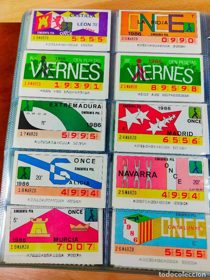 Cupones ONCE: COLECCION COMPLETA CUPONES ONCE CAPICUAS 1984 AL 1987 UN CUPON POR SORTEO - Foto 66 - 265700389