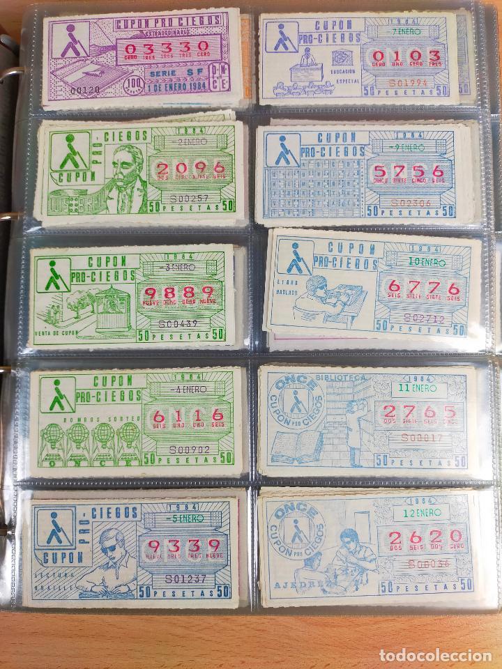 COLECCION COMPLETA CUPONES ONCE CAPICUAS 1984 AL 1987 UN CUPON POR SORTEO (Coleccionismo - Lotería - Cupones ONCE)