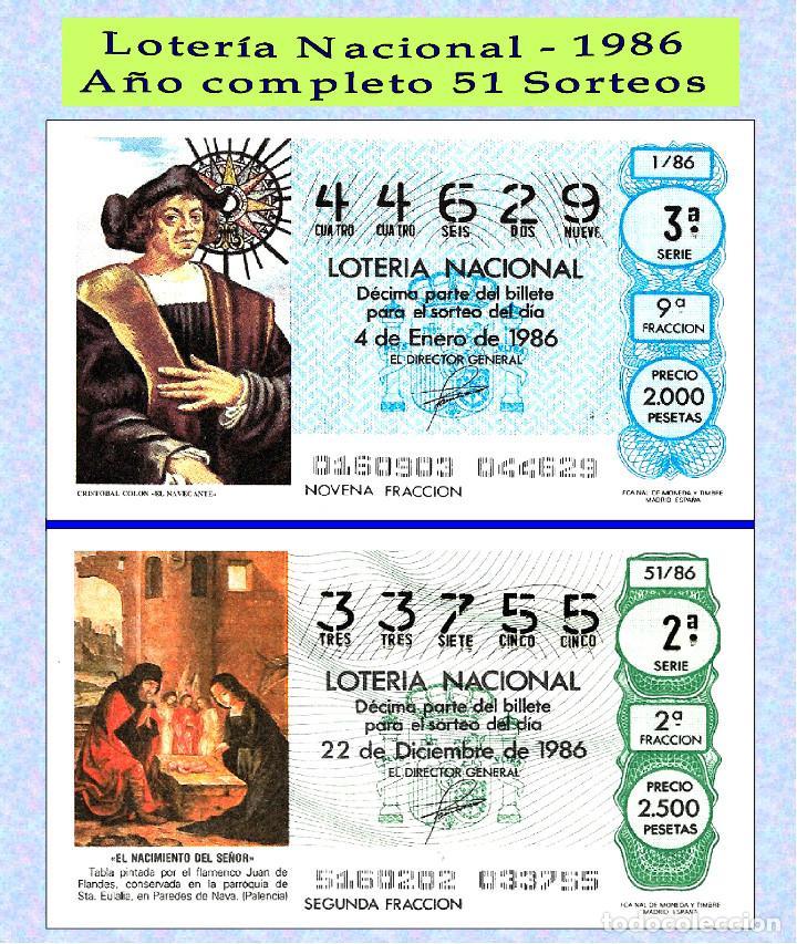 1986 - OCASIÖN - LOTERÍA NACIONAL.- AÑO COMPLETO SÁBADOS / BUENA CALIDAD, DISPONGO DE OTROS AÑOS (Coleccionismo - Lotería - Cupones ONCE)