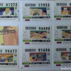 Cupones ONCE: LOTE CON 33 CUPONES DE LA ONCE TEMA IV CENTENARIO DON QUIJOTE COMPLETA TODOS LOS DE LAS FOTOS. Lote 268839364