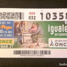 Cupones ONCE: Nº 10358 (3/MARZO/2021). Lote 269069693
