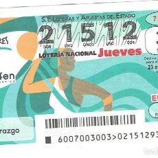 Cupones ONCE: LOTERIA DE LOS JUEVES, CAPICUA, SORTEO 7 DE 2020. Lote 270253283
