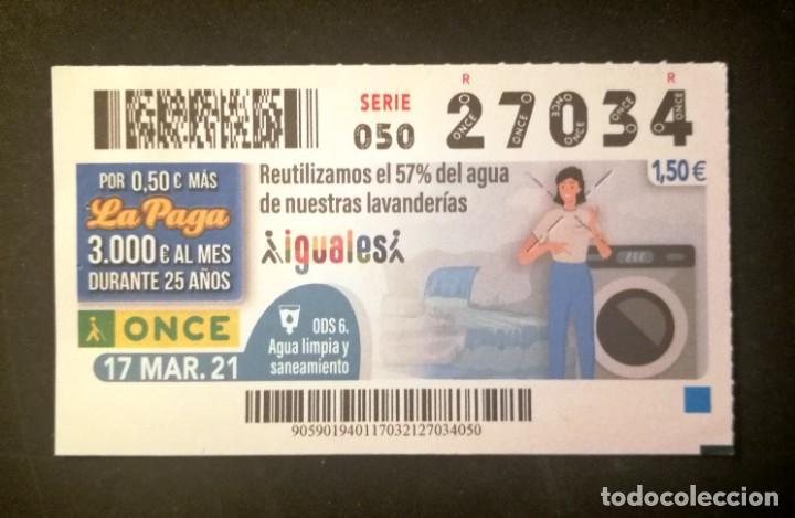 Nº 27034 (17/MARZO/2021) (Coleccionismo - Lotería - Cupones ONCE)