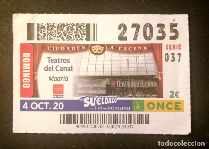 Nº 27035 (4/OCTUBRE/2020)-MADRID (Coleccionismo - Lotería - Cupones ONCE)