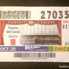 Cupones ONCE: Nº 27035 (4/OCTUBRE/2020)-MADRID. Lote 270995383