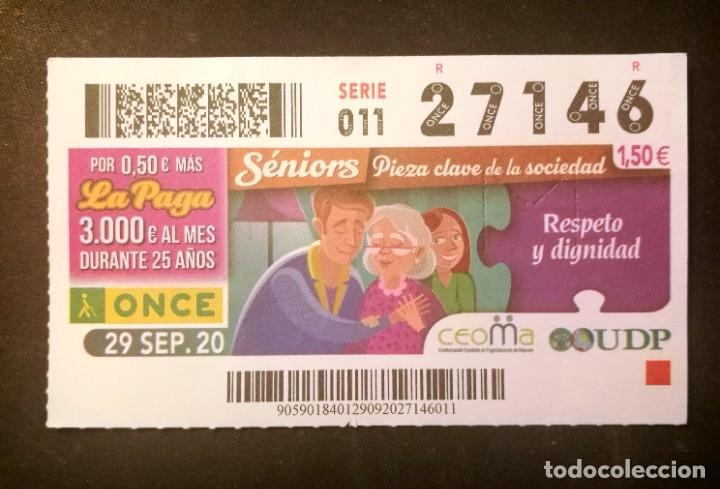 Nº 27146 (29/SEPTIEMBRE/2020) (Coleccionismo - Lotería - Cupones ONCE)