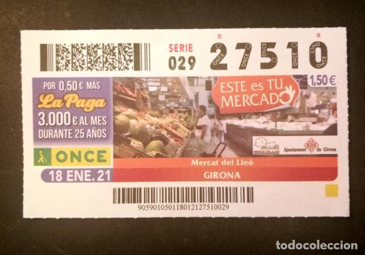 Nº 27510 (18/ENERO/2021)-GIRONA (Coleccionismo - Lotería - Cupones ONCE)