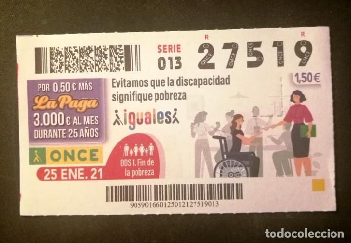 Nº 27519 (25/ENERO/2021) (Coleccionismo - Lotería - Cupones ONCE)