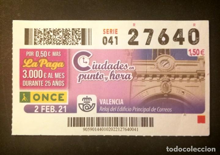 Nº 27640 (2/FEBRERO/2021)-VALENCIA (Coleccionismo - Lotería - Cupones ONCE)