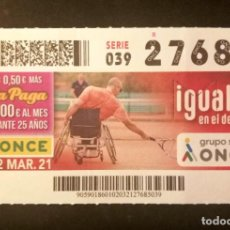 Cupones ONCE: Nº 27685 (2/MARZO/2021). Lote 270995983