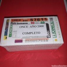 Cupones ONCE: AÑO 2000 COMPLETO CUPONES DE LA ONCE TODOS LOS SORTEOS. Lote 225503922