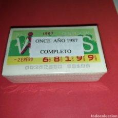 Cupones ONCE: AÑO 1987 AÑO COMPLETO CUPONES DE LA ONCE TODOS LOS SORTEOS. Lote 257805175