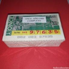 Cupones ONCE: AÑO 1989 AÑO COMPLETO CUPONES DE LA ONCE TODOS LOS SORTEOS. Lote 273423808