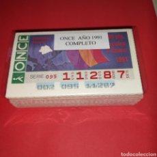 Cupones ONCE: AÑO 1991 AÑO COMPLETO CUPONES DE LA ONCE TODOS LOS SORTEOS. Lote 273427878