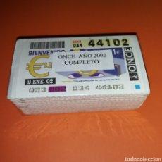 Cupones ONCE: AÑO 2002 AÑO COMPLETO CUPONES DE LA ONCE TODOS LOS SORTEOS. Lote 273433278