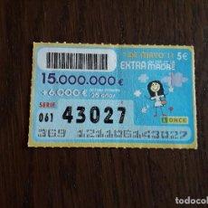 Cupones ONCE: CUPÓN ONCE 01-05-11 EXTRA DIA DE LA MADRE. Lote 278441788