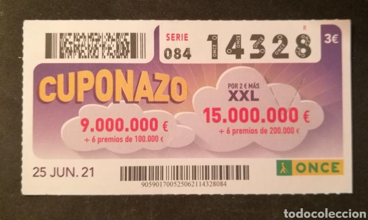 N° 14328 (25/JUNIO/2021) (Coleccionismo - Lotería - Cupones ONCE)