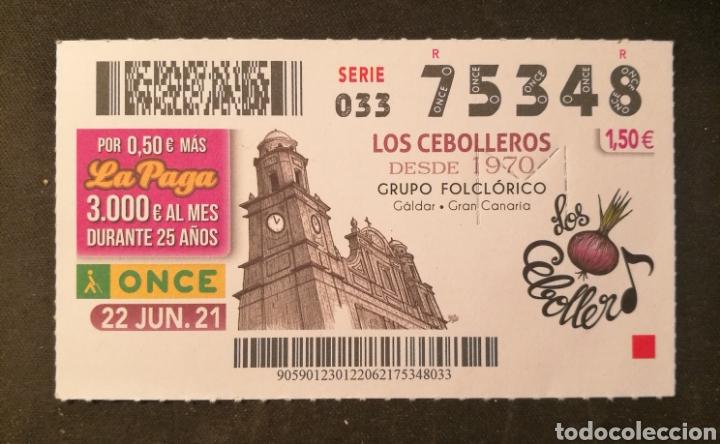 N° 75348 (22/JUNIO/2021)-CANARIAS (Coleccionismo - Lotería - Cupones ONCE)