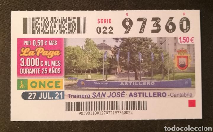 N° 97360 (27/JULIO/2021)-CANTABRIA (Coleccionismo - Lotería - Cupones ONCE)