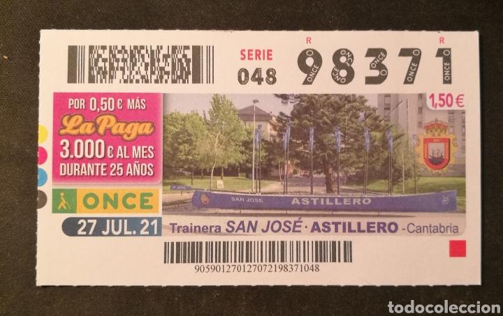 N° 98371 (27/JULIO/2021)-CANTABRIA (Coleccionismo - Lotería - Cupones ONCE)