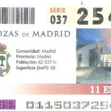 Cupones ONCE: 1 DECIMO O CUPON ONCE - 11 ENERO 2005 - LAS ROZAS ( MADRID ). Lote 288602883