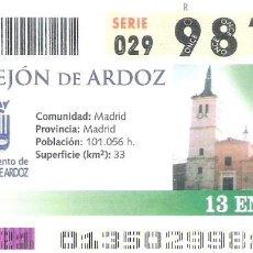 Cupones ONCE: 1 DECIMO O CUPON ONCE - 13 ENERO 2005 - TORREJON DE ARDOZ ( MADRID ). Lote 288603248