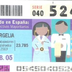 Cupones ONCE: 1 DECIMO O CUPON ONCE - 23 FEBRERO 2005 - ARGELIA - EL MUNDO EN ESPAÑA - COLECTIVOS MAYORITARIOS. Lote 288605958