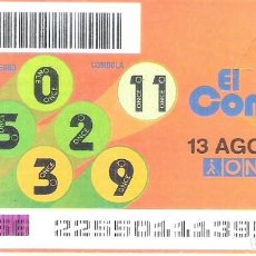 Cupones ONCE: 1 DECIMO O CUPON ONCE - 13 AGOSTO 2005 - EL COMBO. Lote 288607183