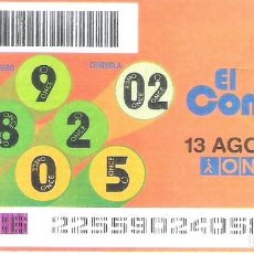Cupones ONCE: 1 DECIMO O CUPON ONCE - 13 AGOSTO 2005 - EL COMBO. Lote 288607268