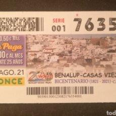 Cupones ONCE: N° 76354 (23/AGOSTO/2021)-CADIZ. Lote 288609723