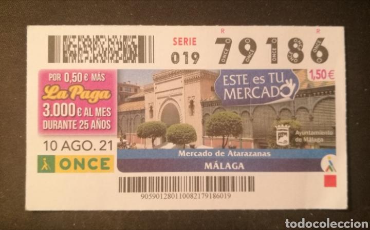 N° 79186 (10/AGOSTO/2021)-MALAGA (Coleccionismo - Lotería - Cupones ONCE)