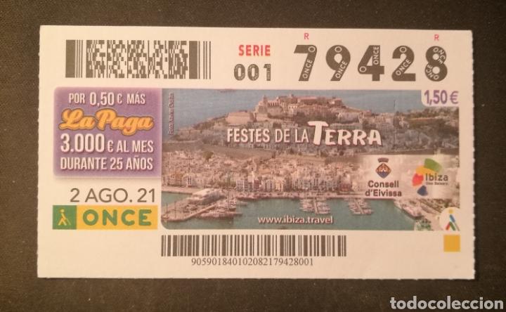 N° 79428 (2/AGOSTO/2021)-BALEARES (Coleccionismo - Lotería - Cupones ONCE)