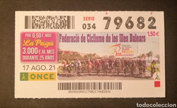 N° 79682 (17/AGOSTO/2021)-BALEARES (Coleccionismo - Lotería - Cupones ONCE)