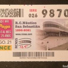Cupones ONCE: N° 98701 (3/AGOSTO/2021)-GUIPUZCOA. Lote 288890833