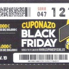 Cupones ONCE: 1 DECIMO O CUPON ONCE - 29 NOVIEMBRE 2019 - CUPONAZO BLACK FRIDAY. Lote 295361378