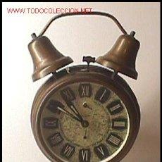 Despertadores antiguos: DESPERTADOR ALEMÁN (FINALES S. XIX). Lote 25762569