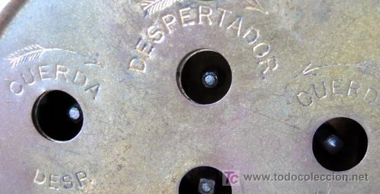 Despertadores antiguos: RELOJ DESPERTADOR ALEMÁN - MARCA JNGHANS - PP. S. XX - F - Foto 4 - 26578821