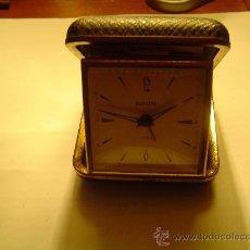 Despertadores antiguos: BONITO RELOJ DESPERTADOR DE VIAJE EUROPA. Lote 11542204