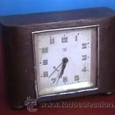 Despertadores antiguos: RELOJ DESPERTADOR SOBREMESA MADERA. Lote 13838411