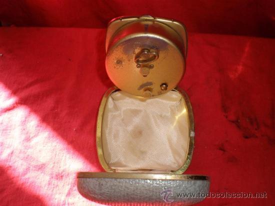 Despertadores antiguos: reloj de viaje despertador - Foto 2 - 18446951