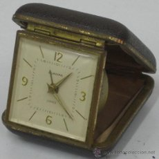 Despertadores antiguos: EUROPA ANTIGUO RELOJ DESPERTADOR DE VIAJE. Lote 27381510