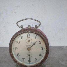 Despertadores antiguos: RELOJ DESPERTADOR REGULADORA. Lote 18946990