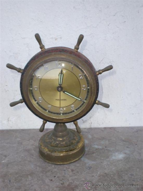 RELOJ DESPERTADOR MARCA MERCEDES EN METAL (Relojes - Relojes Despertadores)