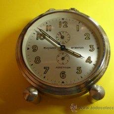 Despertadores antiguos: RELOJ DESPERTADOR AÑOS 50 MARCA BAYARD STENTOR REPETITION. Lote 22729760