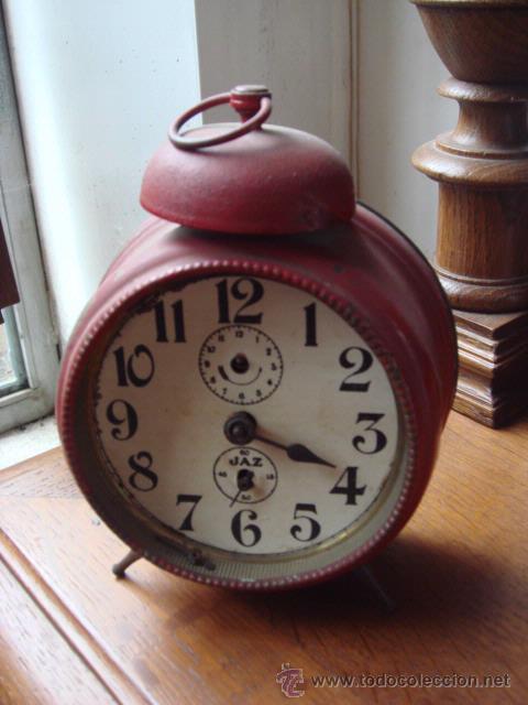 RELOJ ANTIGUO -DESPERTADOR PINTADO (Relojes - Relojes Despertadores)