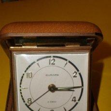 Despertadores antiguos: DESPERTADOR ALEMAN DE VIAJE MARCA EUROPA.. Lote 24020230
