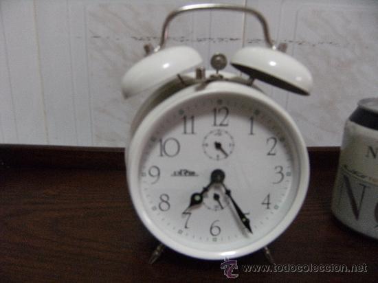 RELOJ DESPERTADOR DE CAMPANA FUNCIONANDO. (Relojes - Relojes Despertadores)
