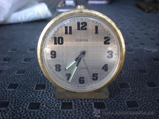 RELOJ DESPERTADOR EUROPA (Relojes - Relojes Despertadores)