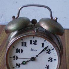 Despertadores antiguos: DESPERTADOR MICRO .. DE METAL .. FUNCIONA. Lote 24303067