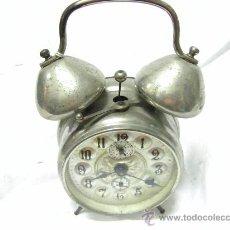 Despertadores antiguos: RELOJ DESPERTADOR DOS CAMPANAS. Lote 24408146